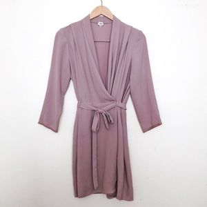 Aritzia Dresses - Aritzia Wilfred Franca Wrap Tie Dress